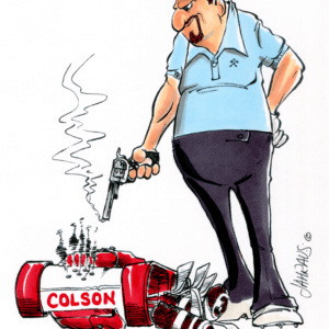 angry golfer cartoon 1