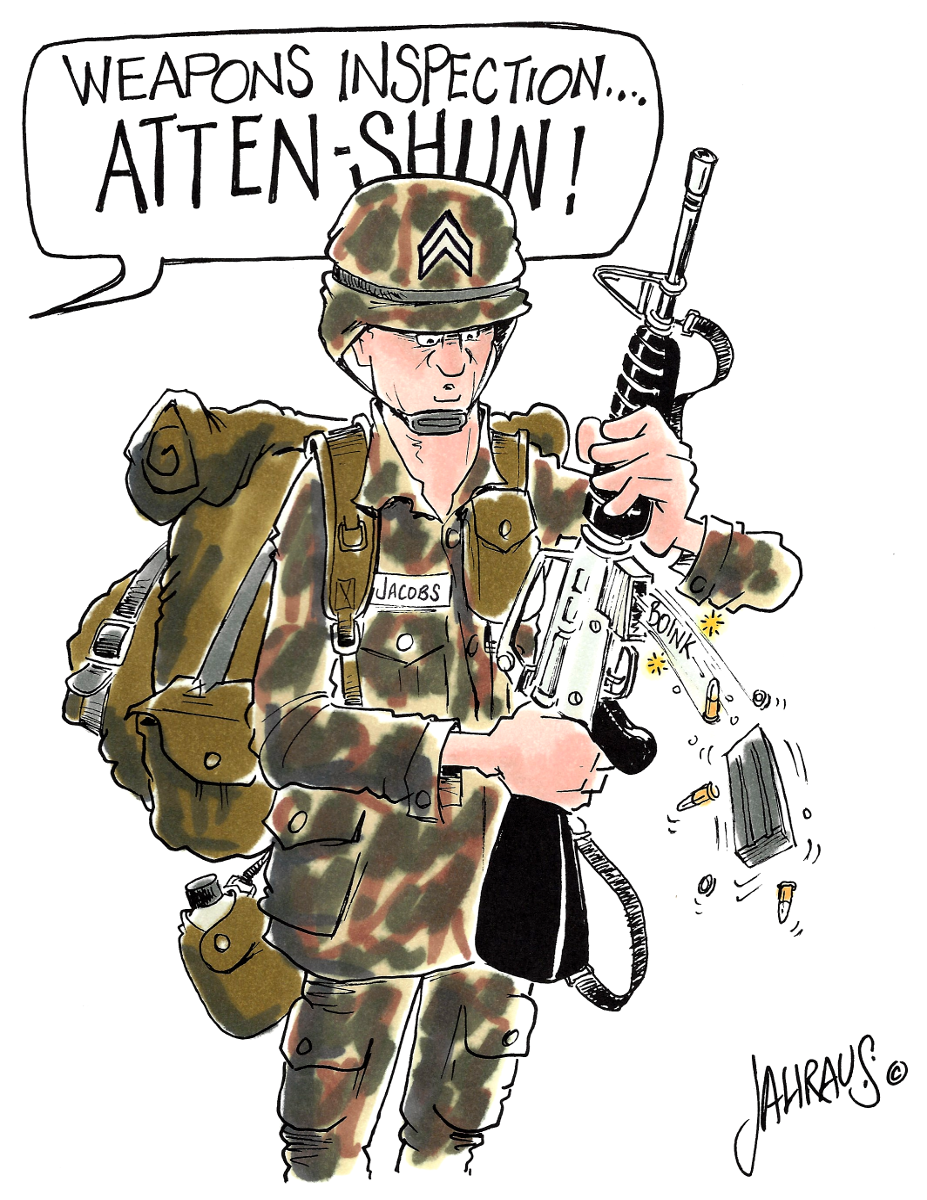 Army Cartoon Funny Gift For Army Men