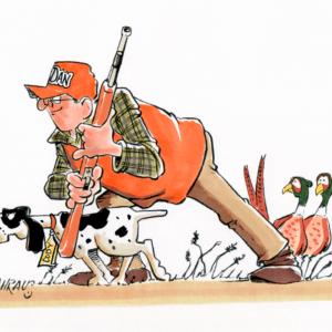 bird hunter cartoon 1