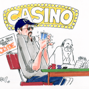card player cartoon 1