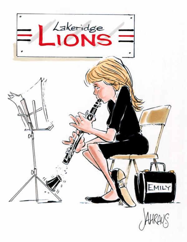 clarinetist cartoon 1