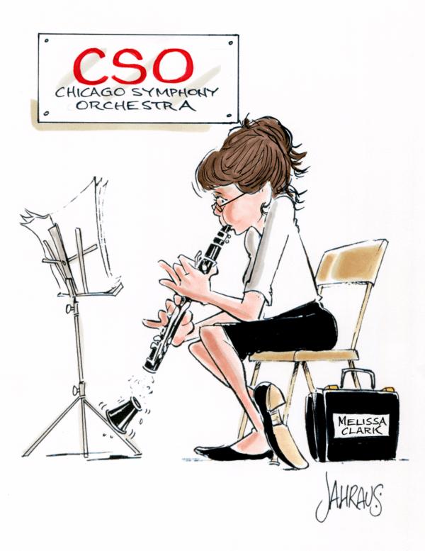clarinetist cartoon 2