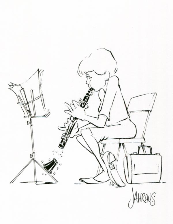 clarinetist cartoon 3