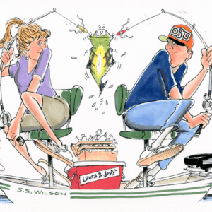 couple fishing cartoon 1