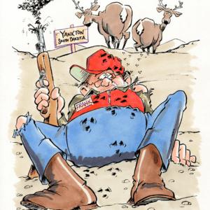 deer hunter cartoon 1