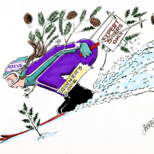 downhill skier cartoon 1