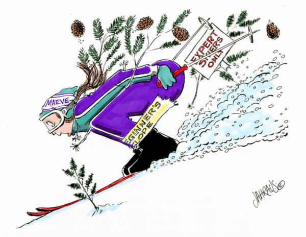 downhill skier cartoon 1