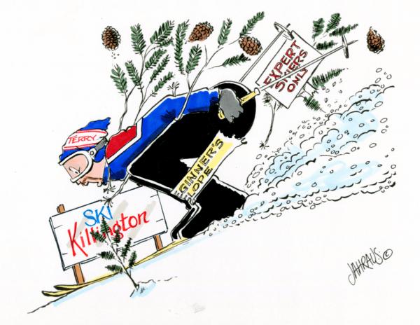 downhill skier cartoon 2