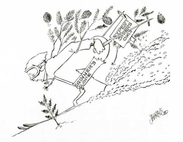 downhill skier cartoon 3