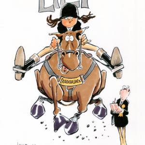 equestrian cartoon 1