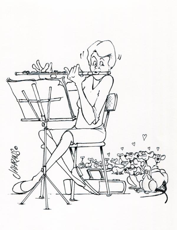 flautist cartoon 3