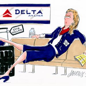 flight attendant cartoon 1