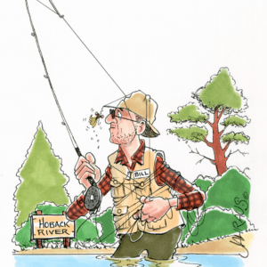 fly fisherman cartoon 1