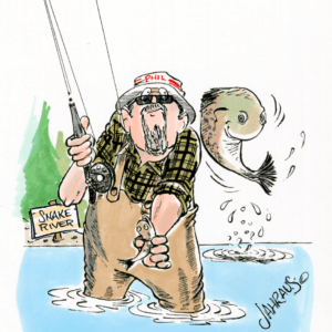 fly fishing cartoon 1
