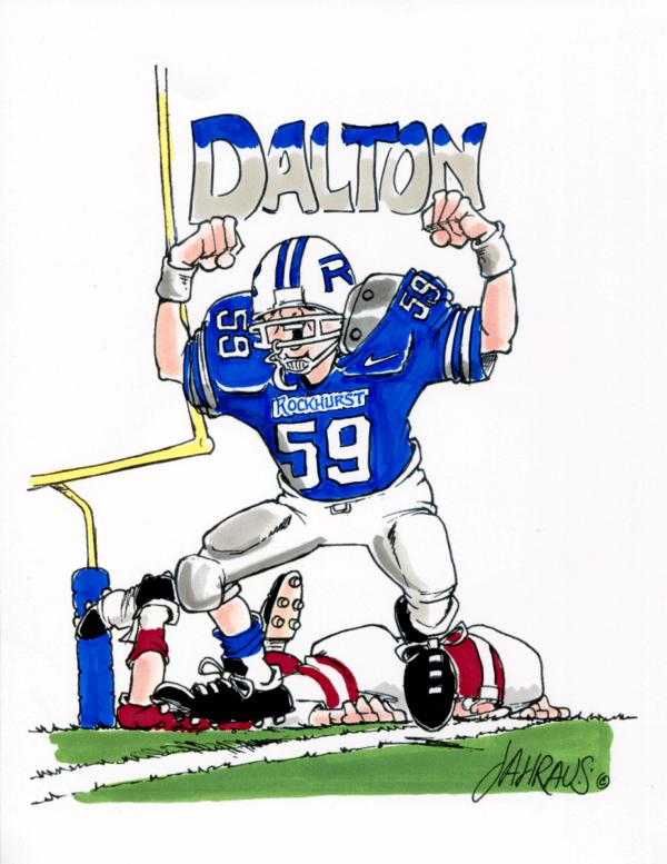 football player cartoon 1