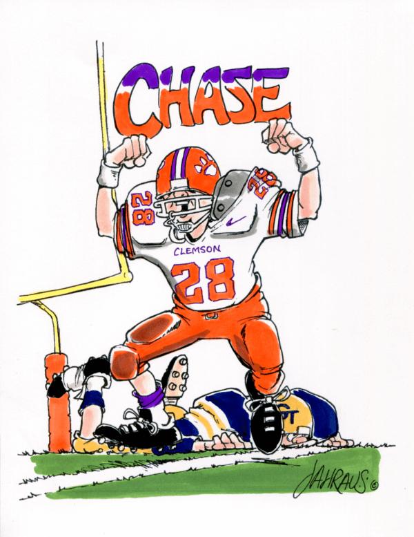 football player cartoon 2