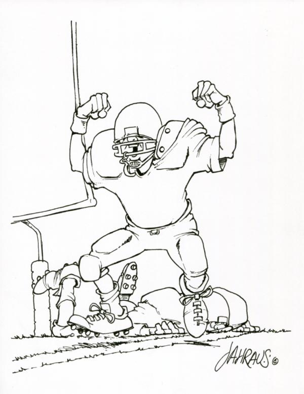 football player cartoon 3