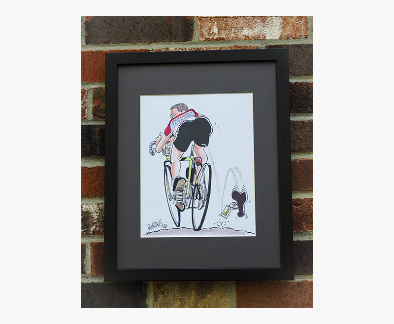 framed plexiglass cartoon gift