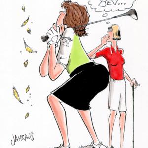 girls golf cartoon 1