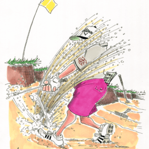 golf bunker cartoon 1