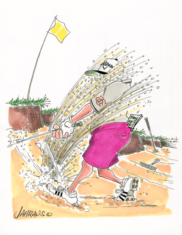 golf bunker cartoon 1