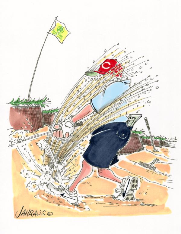 golf bunker cartoon 2