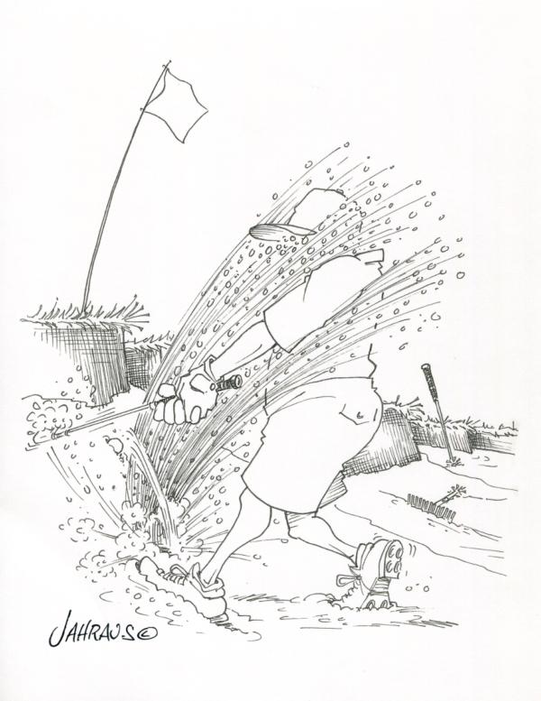 golf bunker cartoon 3