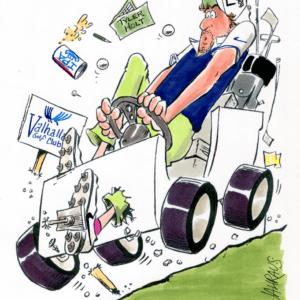 golf cart cartoon 1