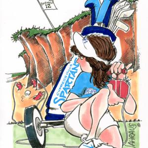 golf sand pit cartoon 1