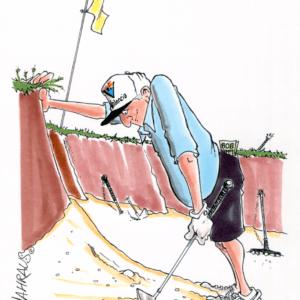 golf sand trap cartoon 1