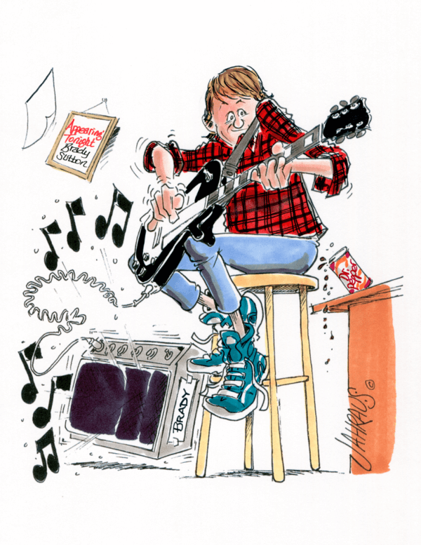 guitarist cartoon 1