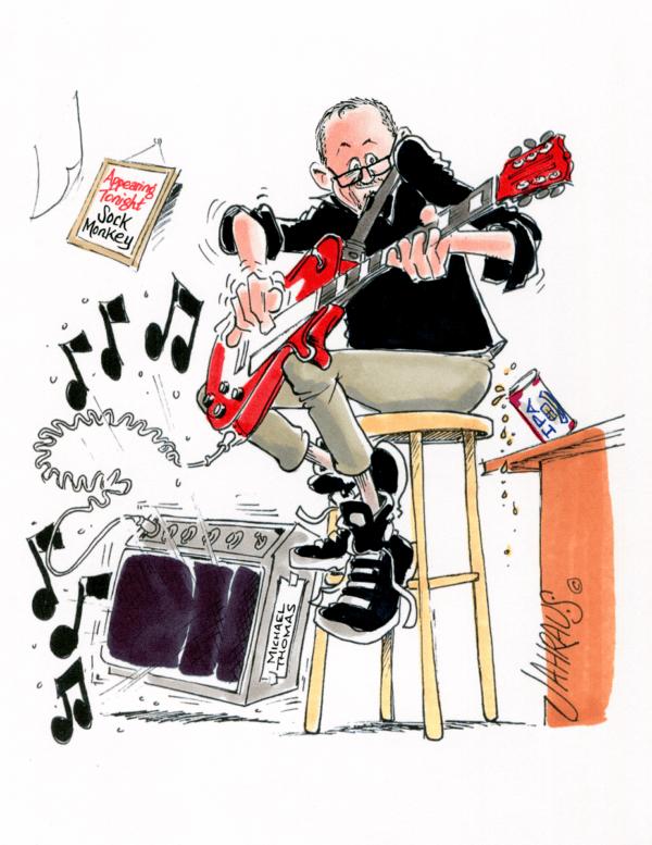 guitarist cartoon 2