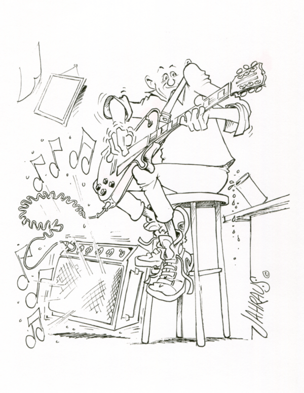 guitarist cartoon 3