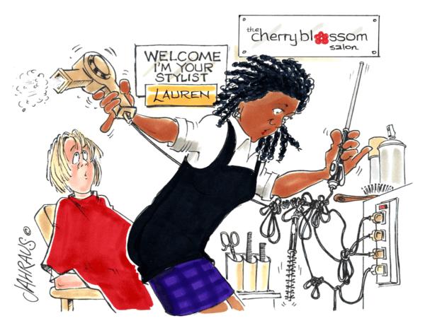 hair dresser cartoon 1