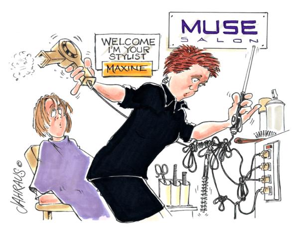 hair dresser cartoon 2