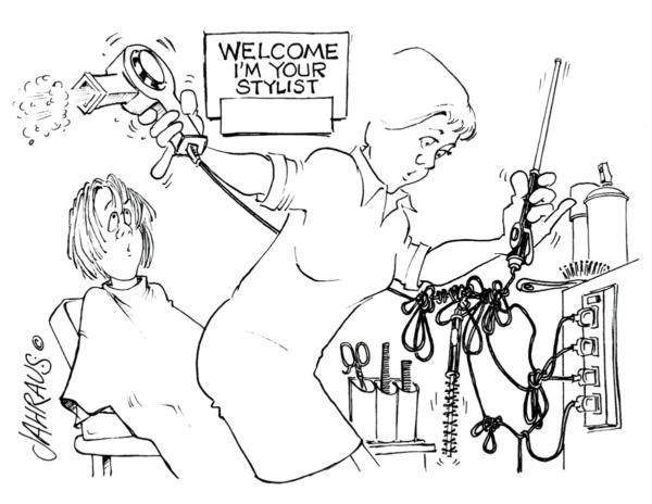 hair dresser cartoon 3