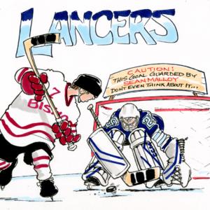 hockey goalie cartoon 1