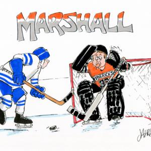 hockey keeper cartoon 1