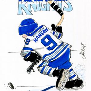 hockey player cartoon 1