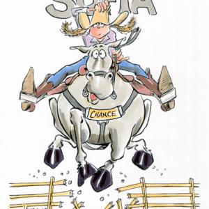 horseback rider cartoon 1