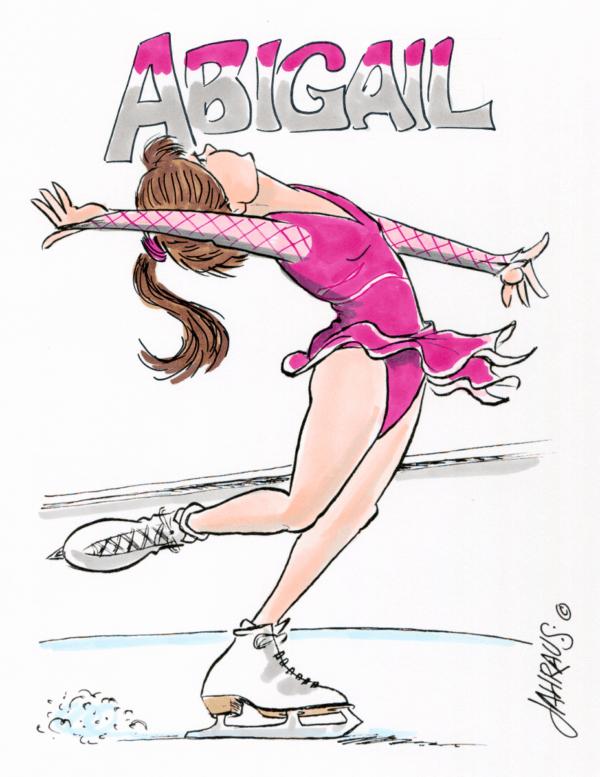 ice skater cartoon 1