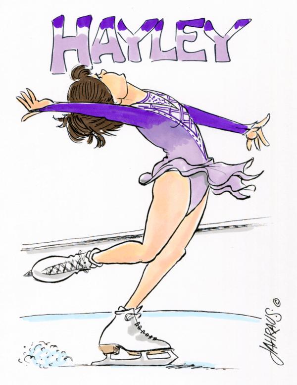ice skater cartoon 2
