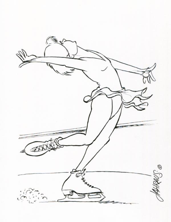 ice skater cartoon 3