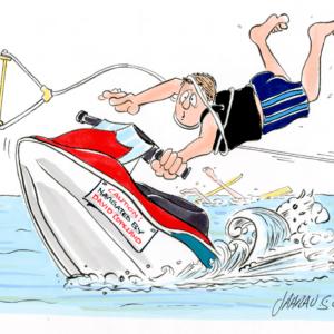 jet skier cartoon 1