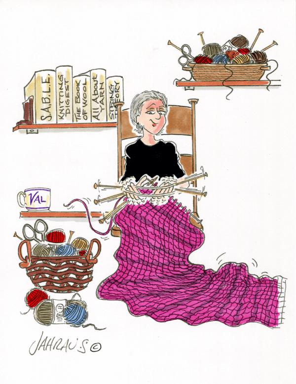 knitter cartoon 2