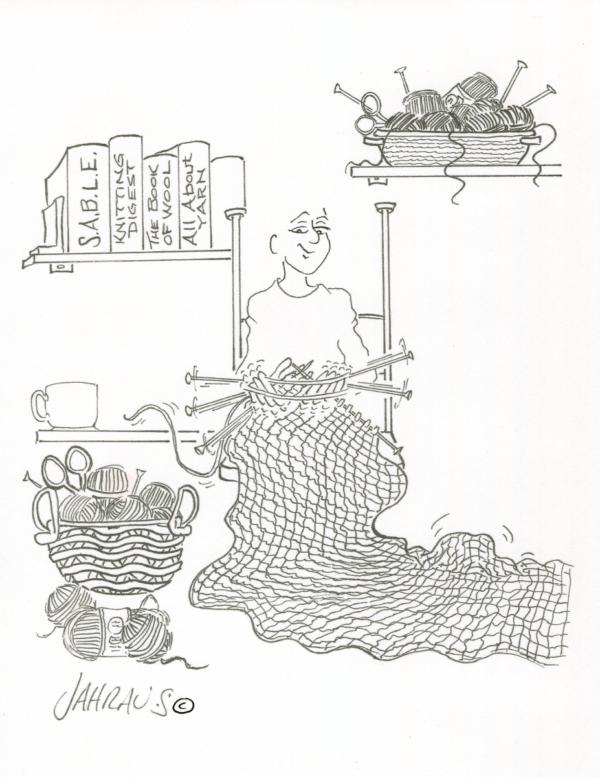 knitter cartoon 3