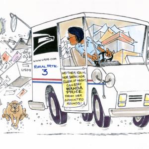 mail carrier cartoon 1