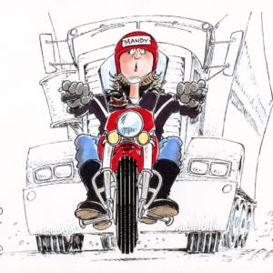 motorcycle rider cartoon 1
