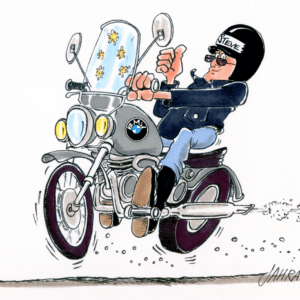 motorcyclist cartoon 1