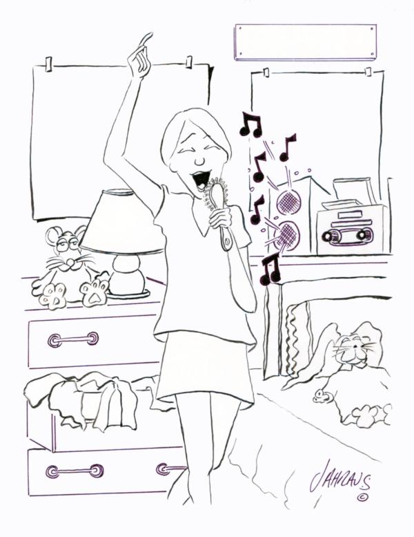 music fan cartoon 3